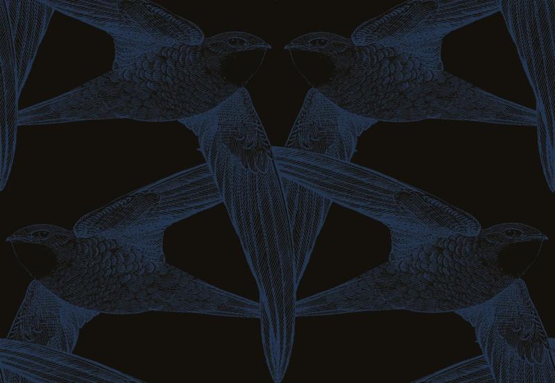 Bien Fait BLACK BIRDS  indigo