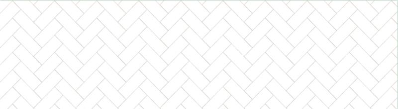 Visgraat wit - 240 x 65 cm