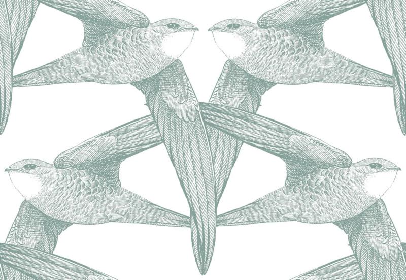 Bien Fait WHITE BIRDS celadon