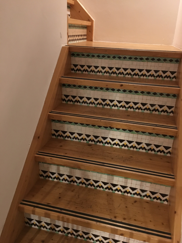 Stairs sticker MOSAIC small