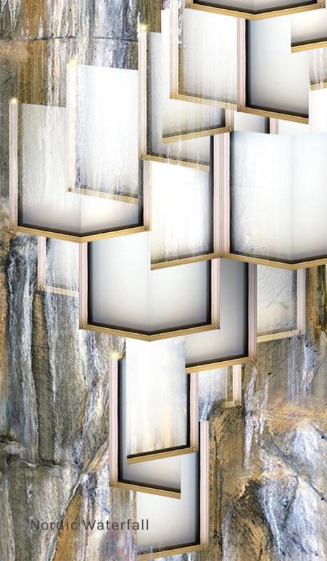 NORDIC WATERFALL led behang