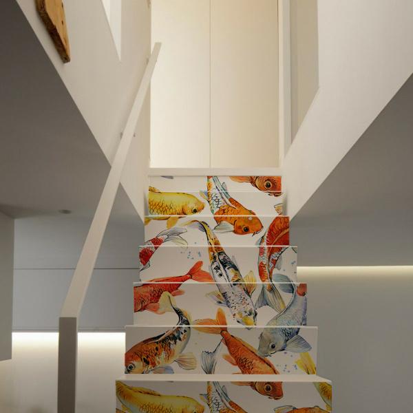 Stairs sticker KOI