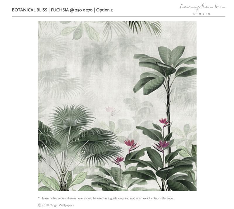 BOTANICAL BLISS Fuchsia 250x270