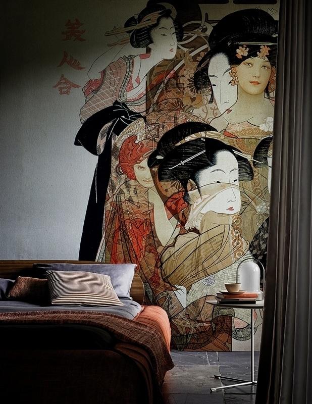 Wall and Deco NOUVEAU GEISHA