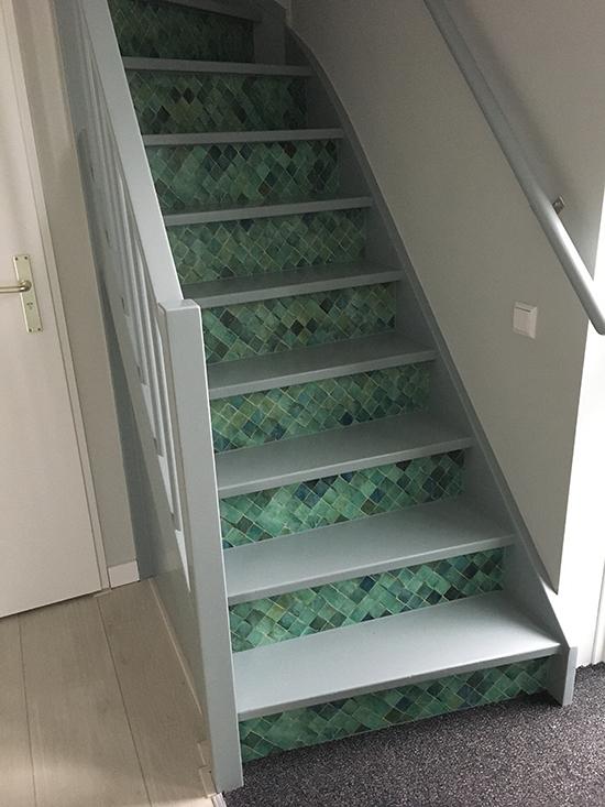 Stairsticker Azul behangfabriek