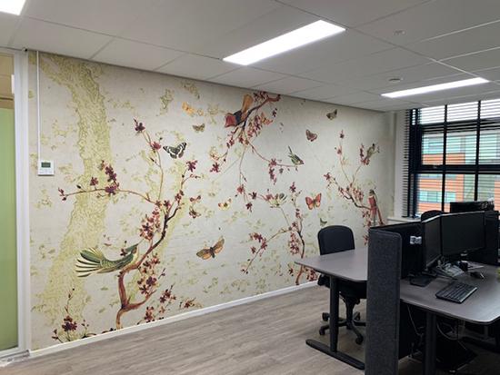 birds butterflies wallpaper behangfabriek