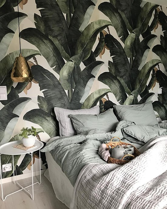 lemon botany banana wallpaper behangfabriek