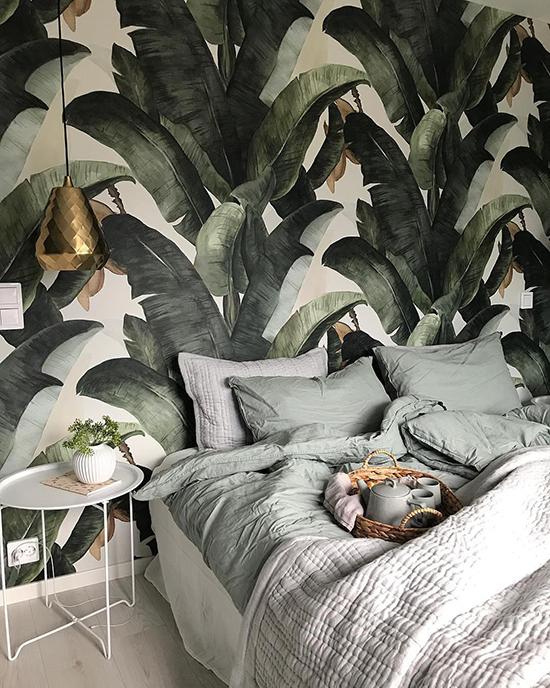 lemon botany banana wallpaper behangfabriek