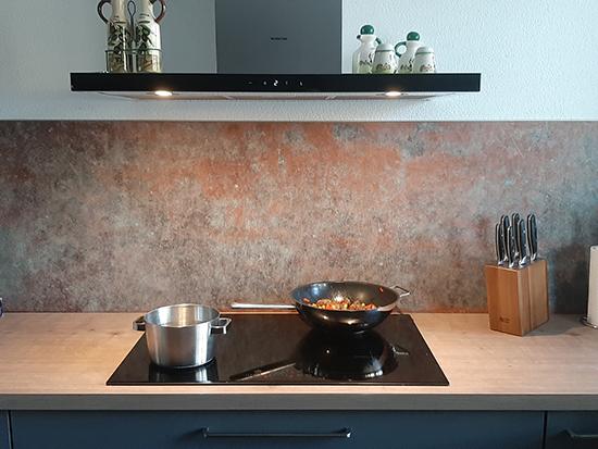 kitchenwalls brons koper keukenbehang