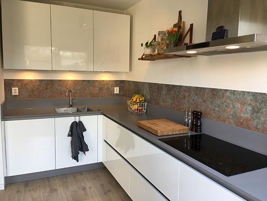 kitchenwalls backsplash bronze copper behangfabriek