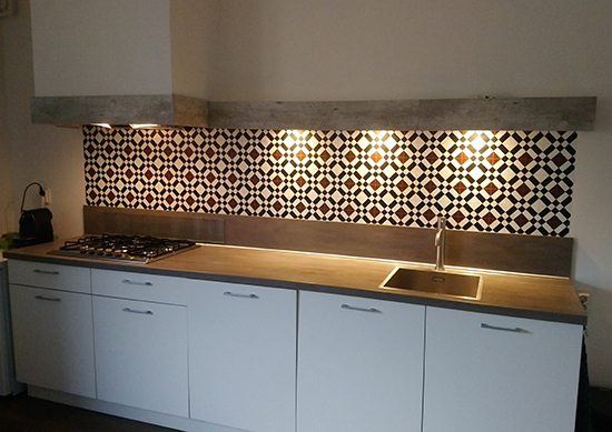 kitchenwalls backsplash wallpaper kitchen brown tile