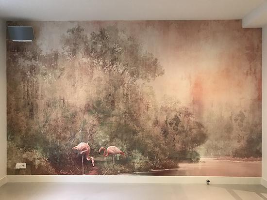 go with the flow flamengo wallpaper behangfabriek