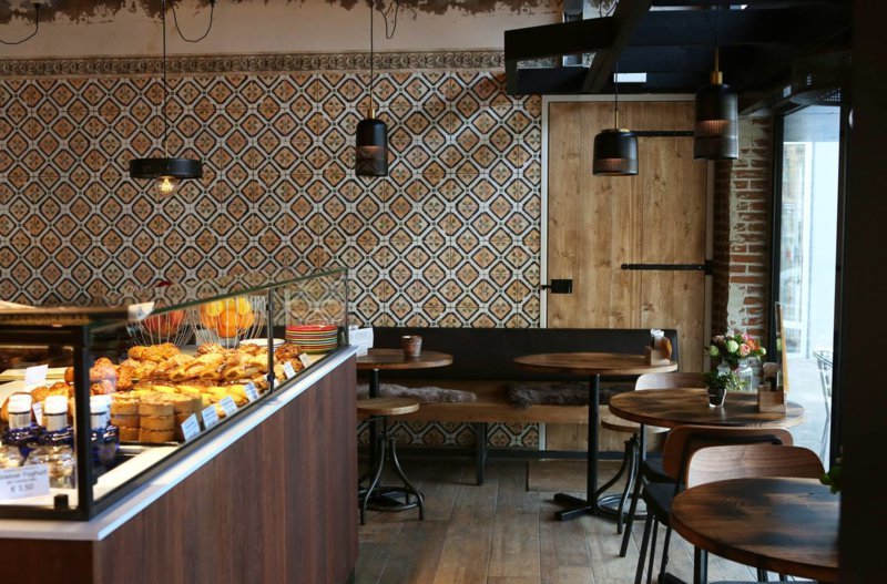 Behangfabriek behang op maat horeca bistro