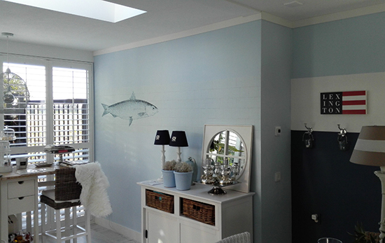 kitchenwall backsplash fish