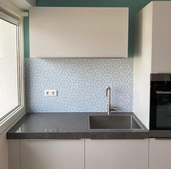 kitchenwalls keukenbehang vintage flower