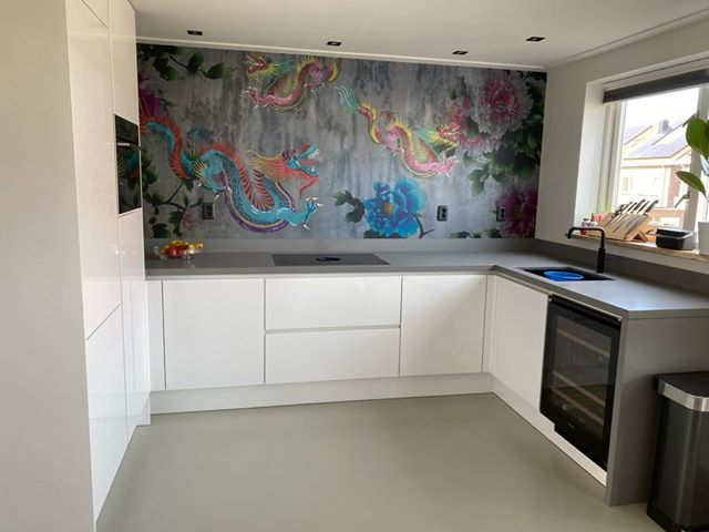 kitchenwalls keukenbehang dragons