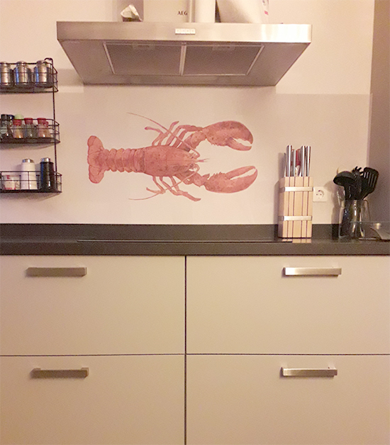 kitchenwalls keukenbehang lobster