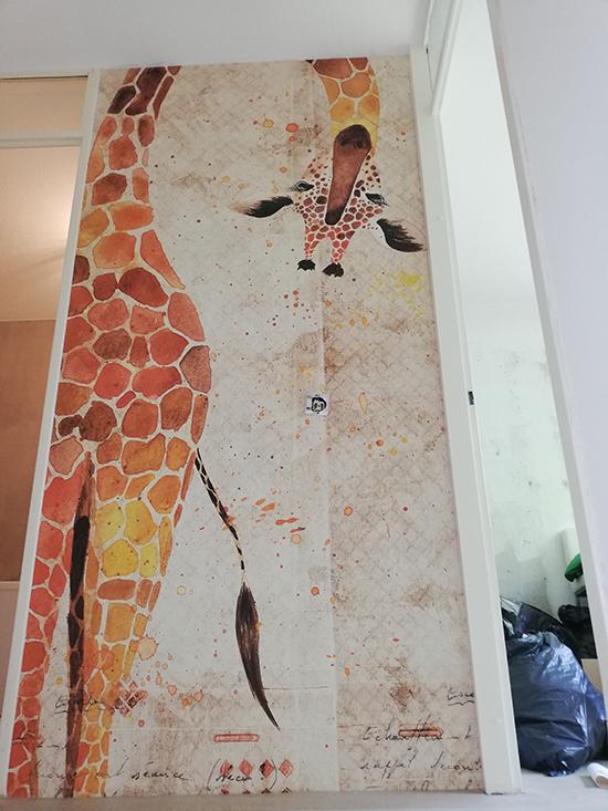 londonart designbehang giraf zoo behangfabriek