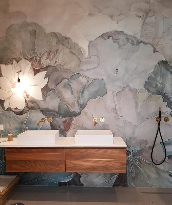 wall and deco shower wallpaper waterproof niveum