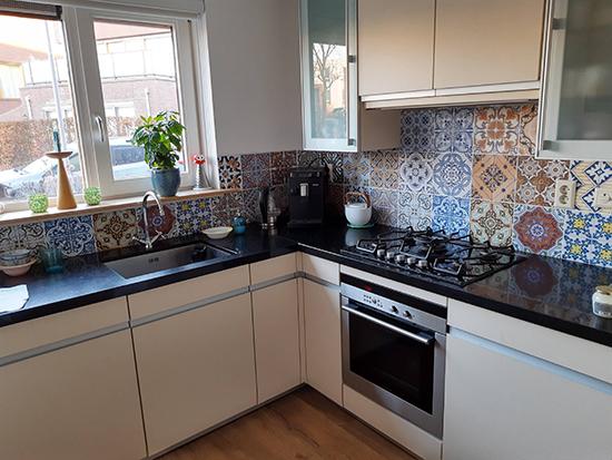 kitchenwalls keukenbehang portugal portugese tegels