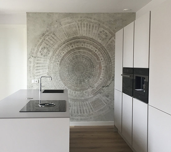 mandala circle wallpaper wall and deco behangfabriek