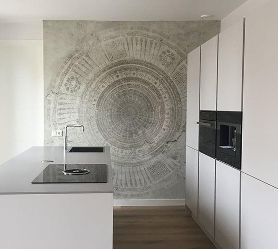 mandala circle wallpaper wall and deco behangfabriek