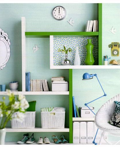 ikea lack groen wit boekenkast
