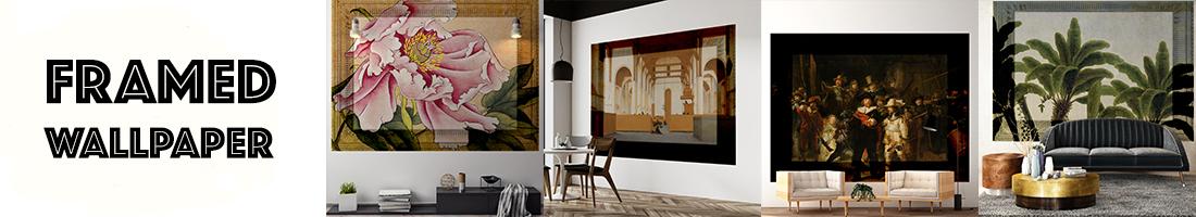framed wallpaper art behangfabriek
