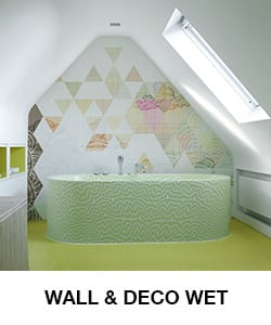 wall and deco behang badkamer wet
