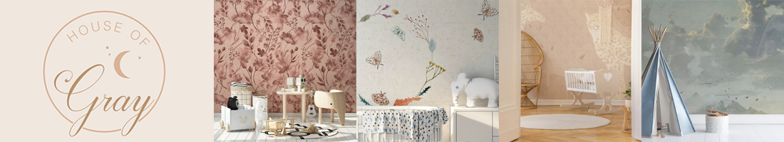 house of gray wallpaper kids room children