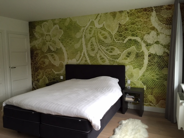 behangfabriek tapete mural lace green