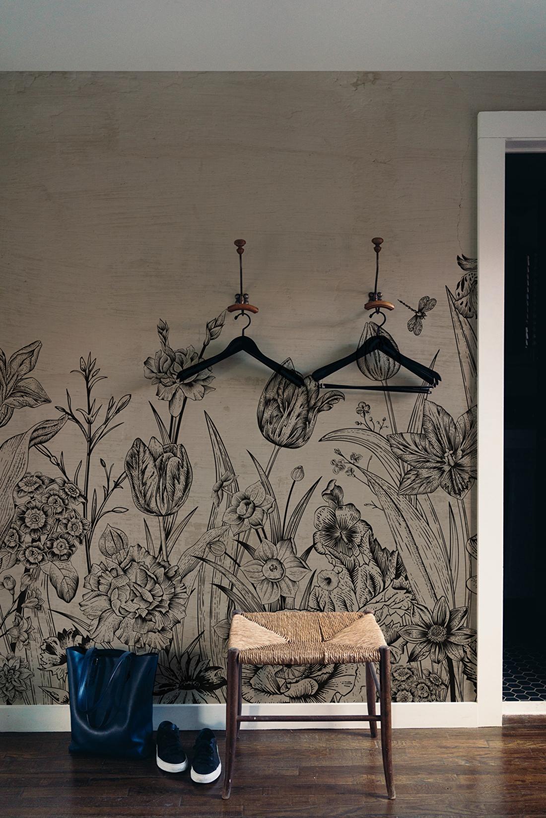 behangfabriek tapete papier peint tulips tulp taupe