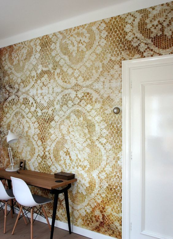 behangfabriek designbehang op  maat lace brown