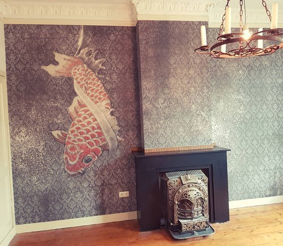 wall and deco tangarine wallcovering