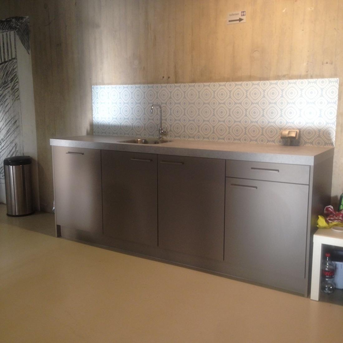 showroom kitchenwalls behangfabriek telefooncentrale