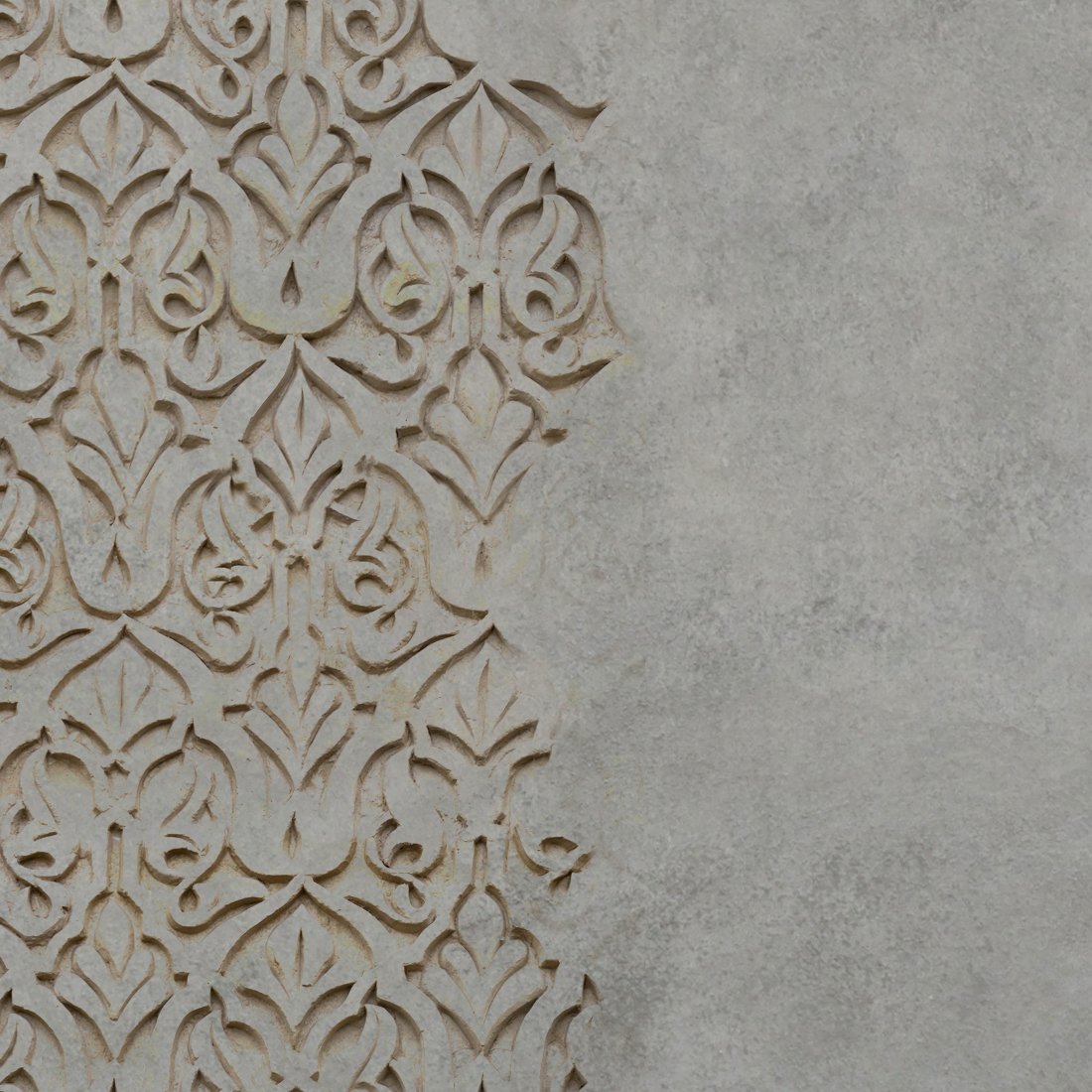 behangfabriek detail oude muur stuc ornament
