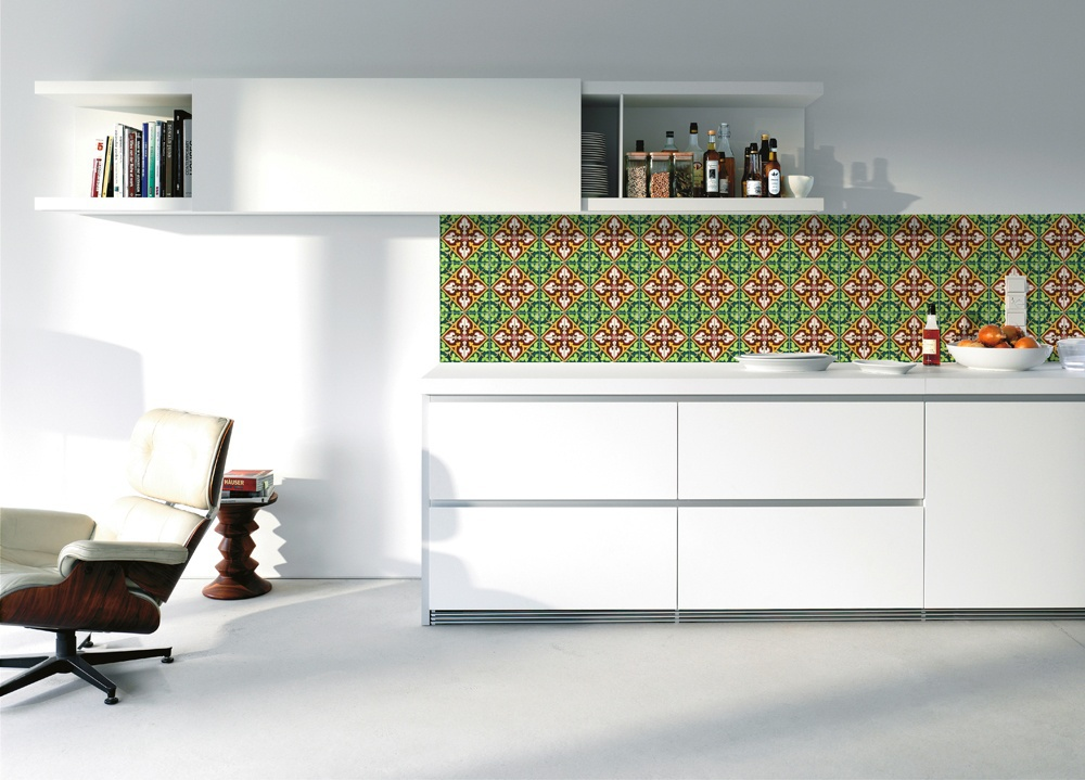 kitchenwalls backsplash wallpaper spanish tile