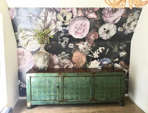 happy customer behangfabriek wallpaper blooming rebelwalls