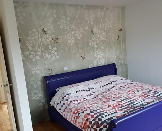 bohemian birds scandinavian surface behangfabriek wallpaper