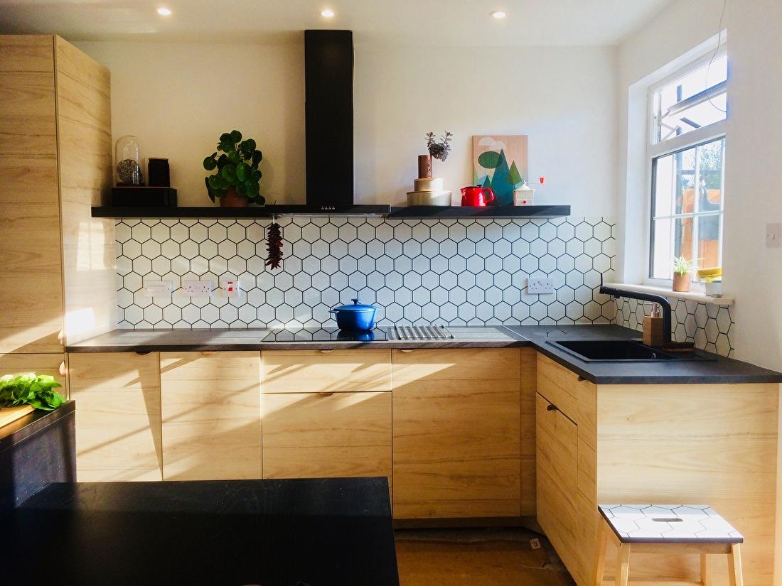kitchenwalls kuchen tapete hexagon