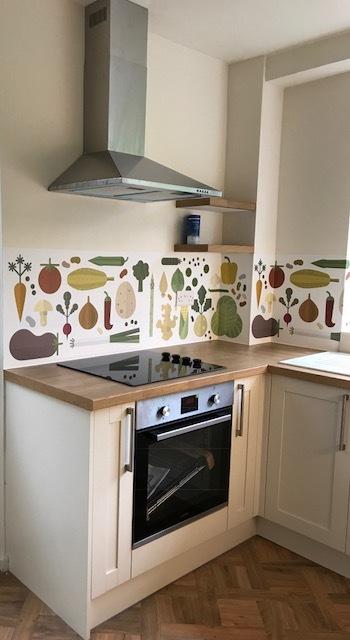 kitchenwalls waterproof backsplash wallpaper veggies