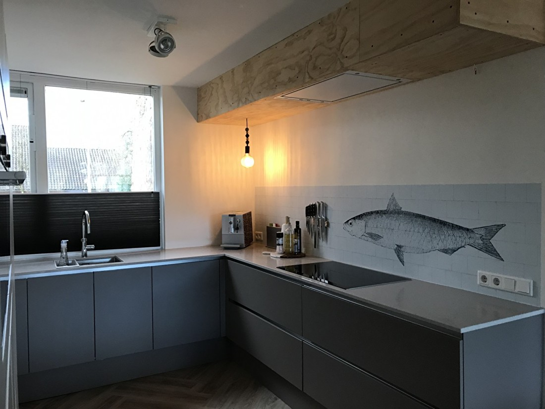 kitchenwalls kuchen tapete fish