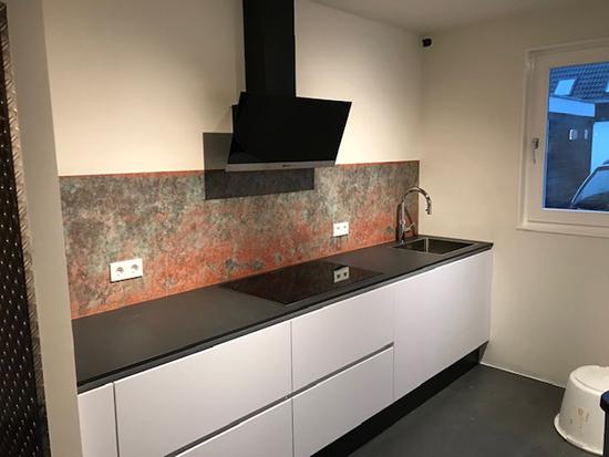kitchenwalls keukenbehang brons koper