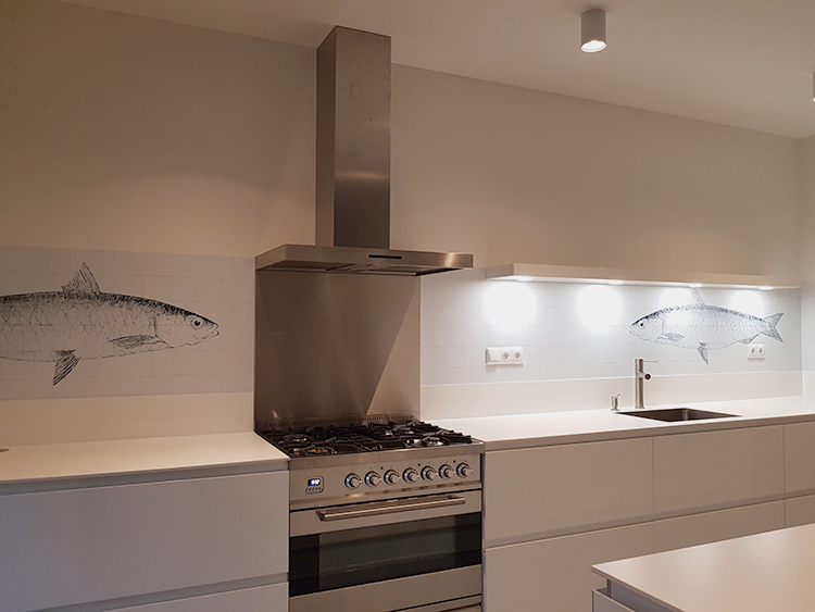 happy customer kitchenwalls backsplash wallpaper fish