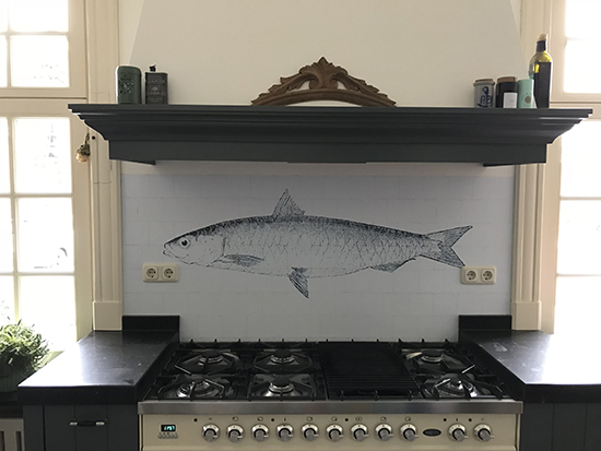 kitchenwalls kuchen tapete fish behangfabriek