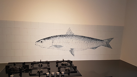 kitchenwalls backsplash waterproof wallpaper fish tiles