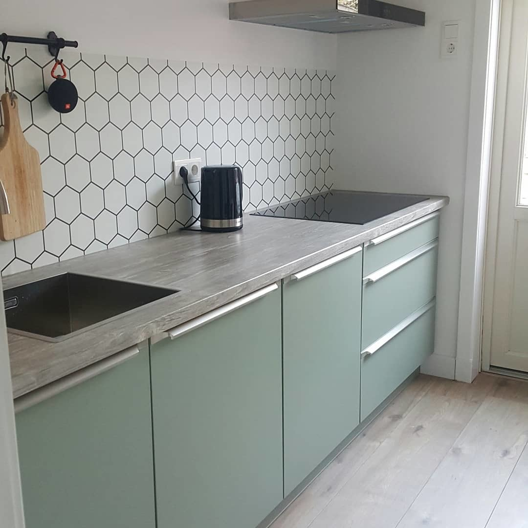 kitchenwalls waterdicht keukenbehang pvc hexagon