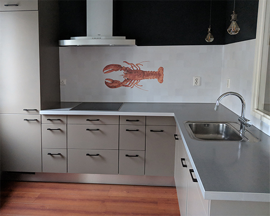 kitchenwalls backsplash wallpaper waterproof lobster
