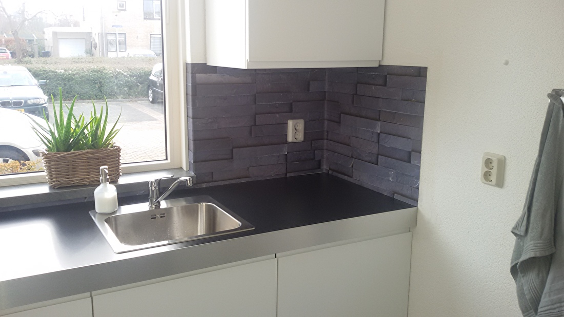 kitchenwalls keukenbehang slate tiles