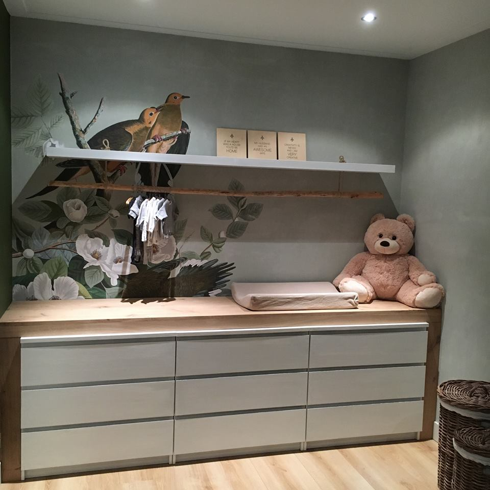 happy customer wallpaper brown birds nursery